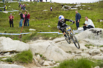 Rachel Atherton on course...