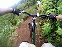An awesome steep trail outside of Honolulu